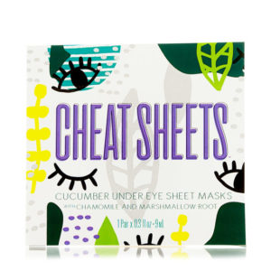 cheat sheets under eye mask
