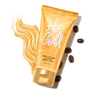 styled hot gold face mask