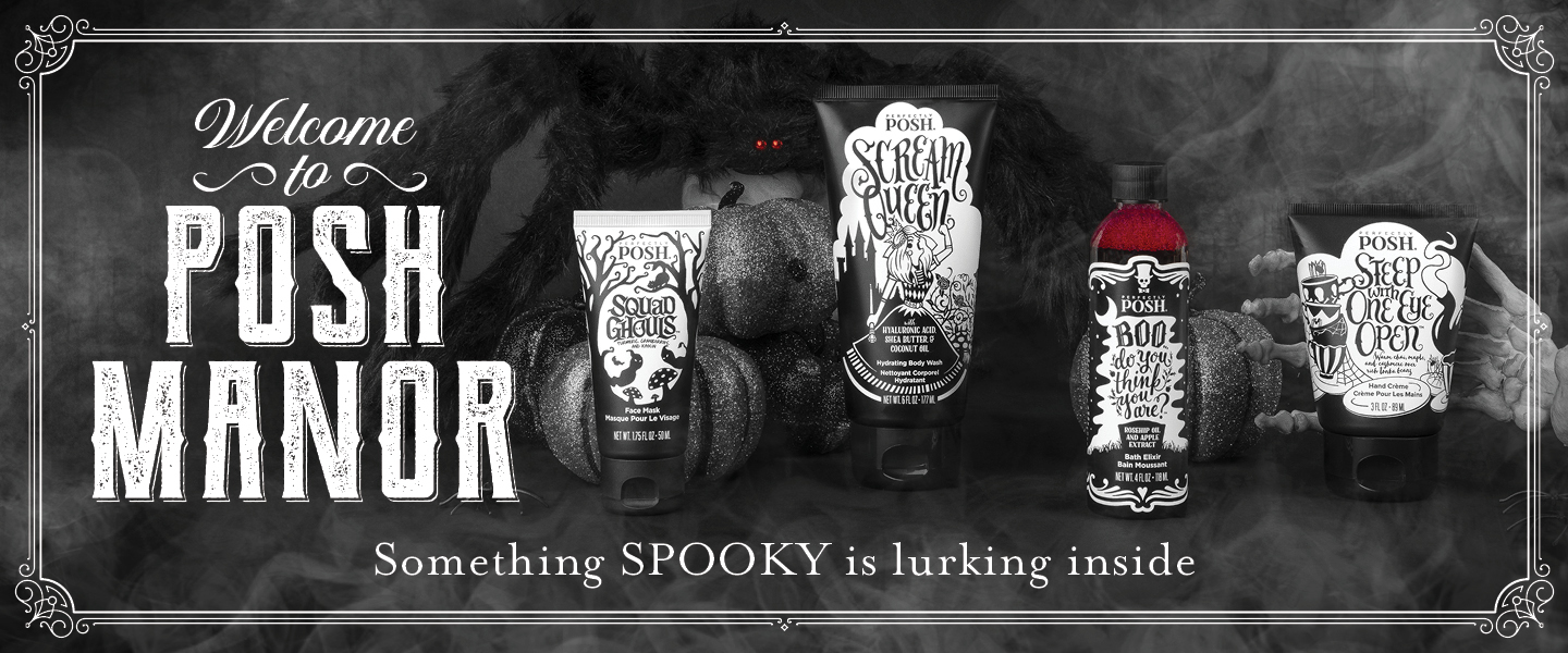 perfectly posh spooky banner